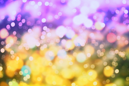 Bright abstract circular bokeh background blur on a dark background Banque d'images