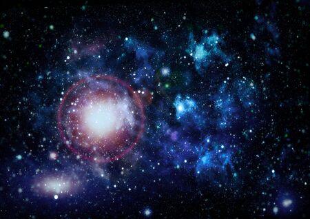 Le centre de la galaxie de la voie lactée et de la poussière spatiale dans l'univers. Ciel étoilé de nuit avec des étoiles