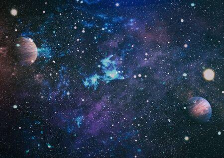 Cosmic galaxy background with nebula, stardust and bright shining stars.