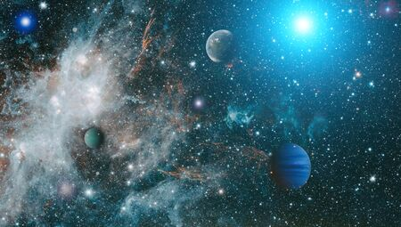 outer space and planets
