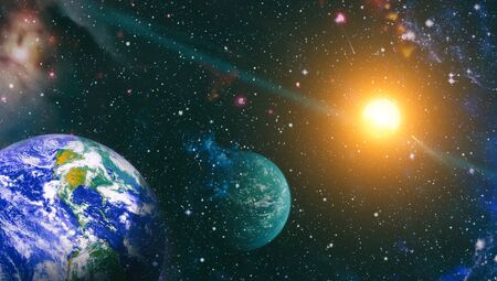 Die Erde aus dem Weltraum.