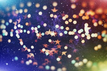 Glittering Christmas background. Yellow christmas background Glitter christmas background.
