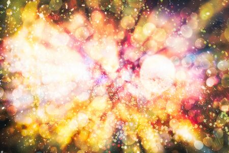 Bokeh light vintage background, Abstract colorful defocused dot, Soft focus