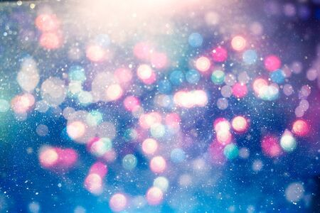 Background With Natural Bokeh And Bright Golden Lights.