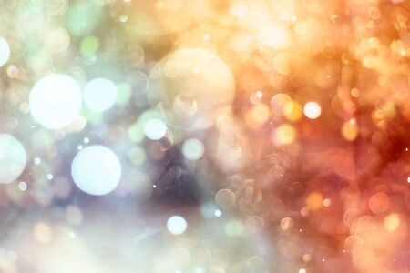 Vintage Magic background with colorful bokeh. Spring Summer Christmas New Year disco party Фото со стока - 130133303