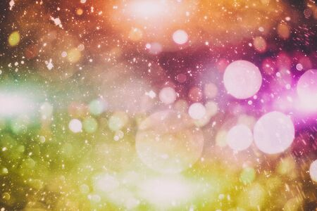 Vintage Magic background with colorful bokeh. Spring Summer Christmas New Year disco party Фото со стока - 130133304