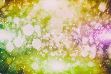Vintage Magic background with colorful bokeh. Spring Summer Christmas New Year disco party Фото со стока - 130133307