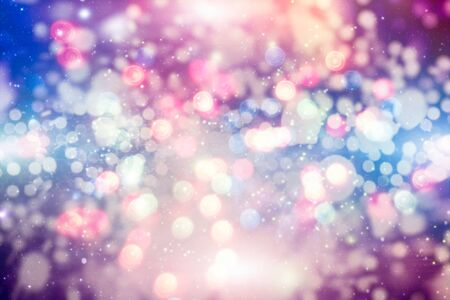 Vintage Magic background with colorful bokeh. Spring Summer Christmas New Year disco party Фото со стока - 130133314