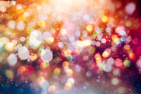 Vintage Magic background with colorful bokeh. Spring Summer Christmas New Year disco party Фото со стока - 130133315