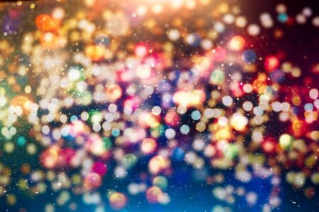 Vintage Magic background with colorful bokeh. Spring Summer Christmas New Year disco party Фото со стока - 130133316