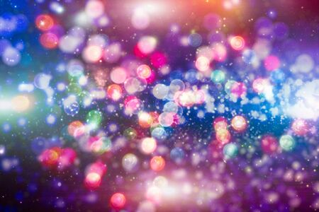 Vintage Magic background with colorful bokeh. Spring Summer Christmas New Year disco party Фото со стока - 130133344