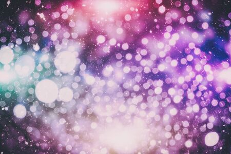 Vintage Magic background with colorful bokeh. Spring Summer Christmas New Year disco party Фото со стока - 130133350
