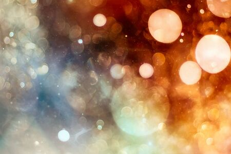 Vintage Magic background with colorful bokeh. Spring Summer Christmas New Year disco party Фото со стока - 130133352