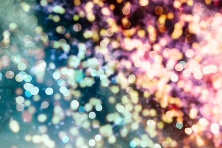 Vintage Magic background with colorful bokeh. Spring Summer Christmas New Year disco party Фото со стока - 130133362