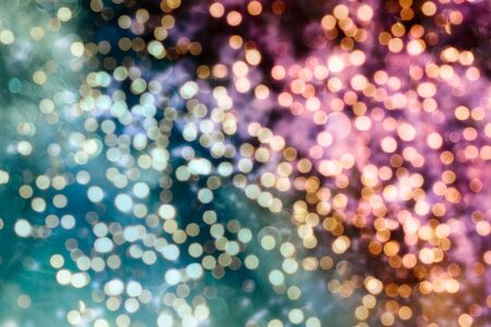 Vintage Magic background with colorful bokeh. Spring Summer Christmas New Year disco party Фото со стока - 130133500