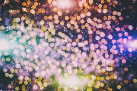 Vintage Magic background with colorful bokeh. Spring Summer Christmas New Year disco party Фото со стока - 130133501