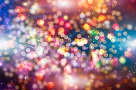 Vintage Magic background with colorful bokeh. Spring Summer Christmas New Year disco party Фото со стока - 130133502