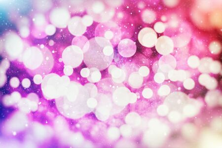 Vintage Magic background with colorful bokeh. Spring Summer Christmas New Year disco party Фото со стока - 130133505