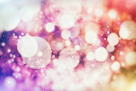Vintage Magic background with colorful bokeh. Spring Summer Christmas New Year disco party Фото со стока - 130133522