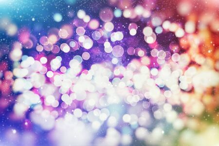 Vintage Magic background with colorful bokeh. Spring Summer Christmas New Year disco party Фото со стока - 130133552