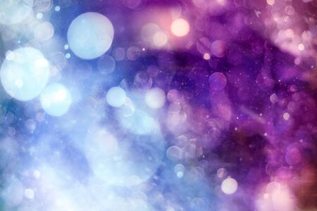 Vintage Magic background with colorful bokeh. Spring Summer Christmas New Year disco party Фото со стока - 130133554