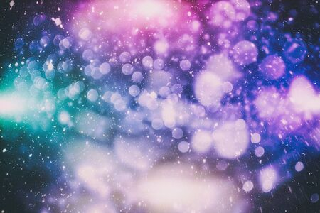Vintage Magic background with colorful bokeh. Spring Summer Christmas New Year disco party Фото со стока - 130133555