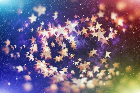 Vintage Magic background with colorful bokeh. Spring Summer Christmas New Year disco party Фото со стока - 130133574