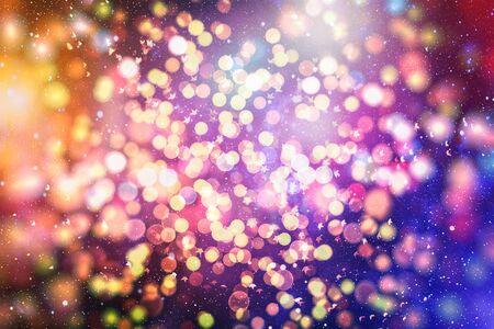 Bright light spots abstract bokeh blurred texture background Фото со стока