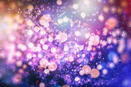 Bright light spots abstract bokeh blurred texture background Фото со стока - 130133924