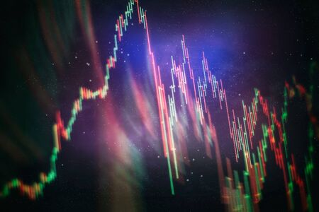 Concept d'analyse fondamentale et technique. Divers types de produits financiers et d'investissement sur le marché obligataire