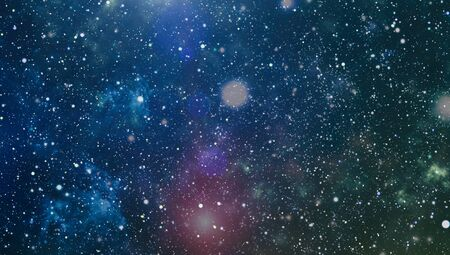 Abstraction space background for design. Mystical light , Mystical light .Colorful Starry Night Sky Outer Space background Фото со стока - 131308594
