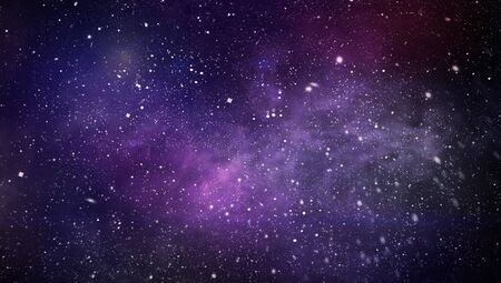 Colorful Starry Night Sky Outer Space background, Starry outer space background texture Imagens