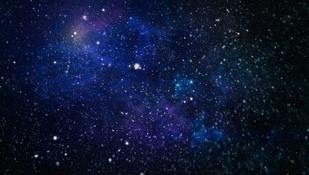 Colorful Starry Night Sky Outer Space background, Starry outer space background texture Фото со стока - 131308023