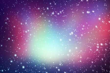Colorful Starry Night Sky Outer Space background, Starry outer space background texture Stock Photo