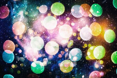 Bright light spots abstract bokeh blurred texture background Imagens - 132190145