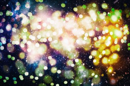 Bright light spots abstract bokeh blurred texture background Imagens - 132190539