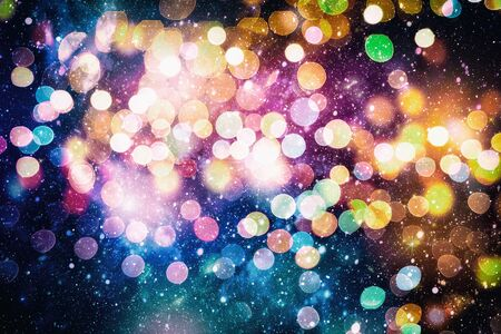 Bright light spots abstract bokeh blurred texture background Imagens - 132190260