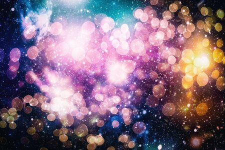 Bright light spots abstract bokeh blurred texture background Imagens - 132192362