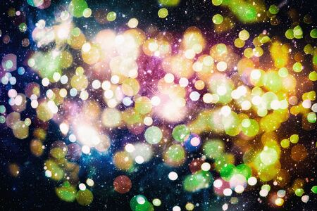 Bright light spots abstract bokeh blurred texture background Imagens - 132195302