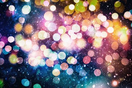 Bright light spots abstract bokeh blurred texture background Stock Photo
