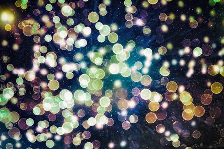 Bright light spots abstract bokeh blurred texture background Stockfoto