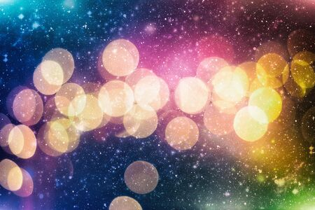 Festive Christmas background. Elegant abstract background with bokeh defocused lights and stars Archivio Fotografico - 132247569