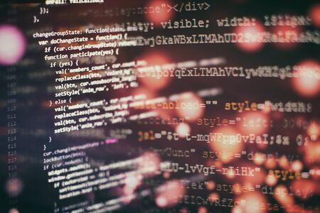 Programming source code HTML for Website development. Archivio Fotografico - 134618634