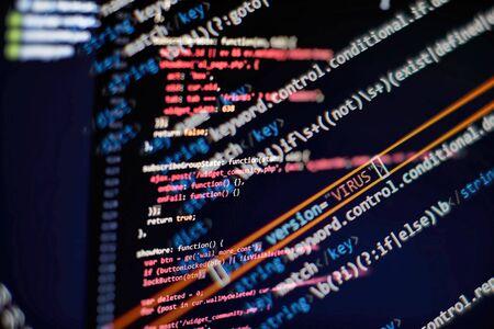 Software development. Internet security hacker prevention. SEO optimization. Modern tech. Archivio Fotografico - 134618883
