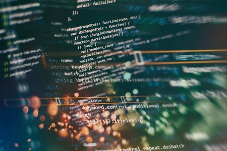 Software development. Internet security hacker prevention. SEO optimization. Modern tech. Фото со стока - 134618891