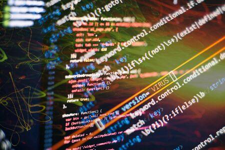Software development. Internet security hacker prevention. SEO optimization. Modern tech. Archivio Fotografico - 134618894