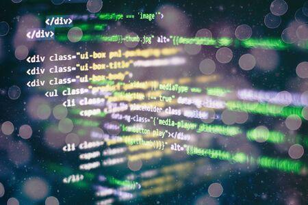 Software development. Internet security hacker prevention. SEO optimization. Modern tech. Фото со стока - 134618895