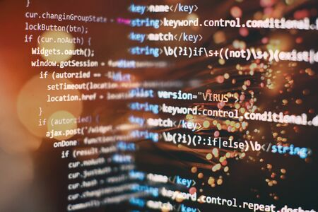 Programming source code HTML for Website development. Archivio Fotografico - 134618906