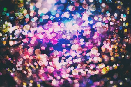 Disco lights . Elegant abstract background with bokeh lights and stars