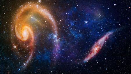 Bursting Galaxy , Universe filled with stars, nebula and galaxy Imagens